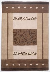 Vlněný koberec Hawai hnědá - 190 x 290