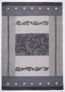 Vlněný koberec Hawai šedá - 190 x 290