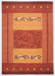 Vlněný koberec Hawai oranžová - 190 x 290